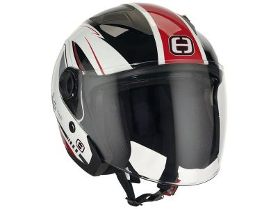 Helm Speeds Jet City II Graphic weiß / rot glänzend