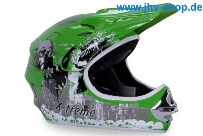 X-treme Kinder Cross Helm - Grün