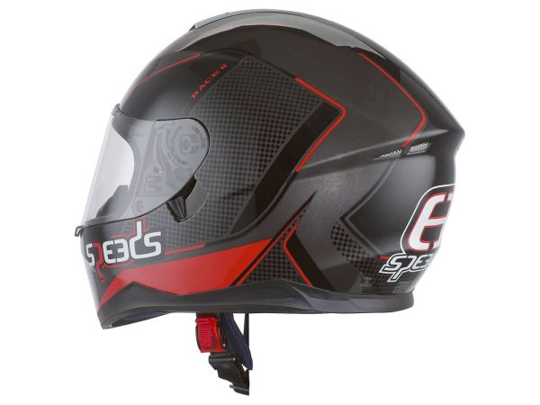 Helm Speeds Integral Race II Graphic schwarz / titanium / rot