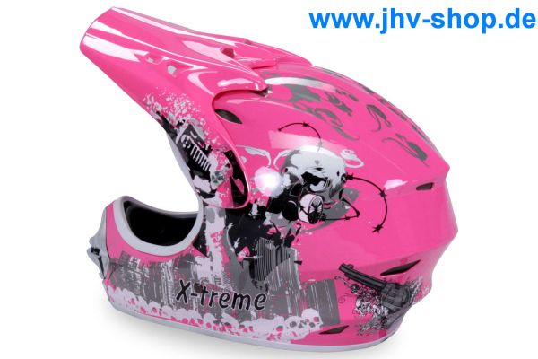 X-treme Kinder Cross Helm - Pink