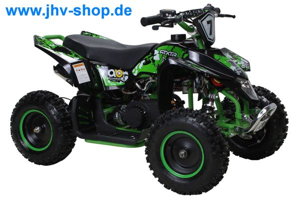 Kinder Miniquad Fox XTR PREMIUM SCHWARZER Body 49 cc E-Start - Tuning Engine